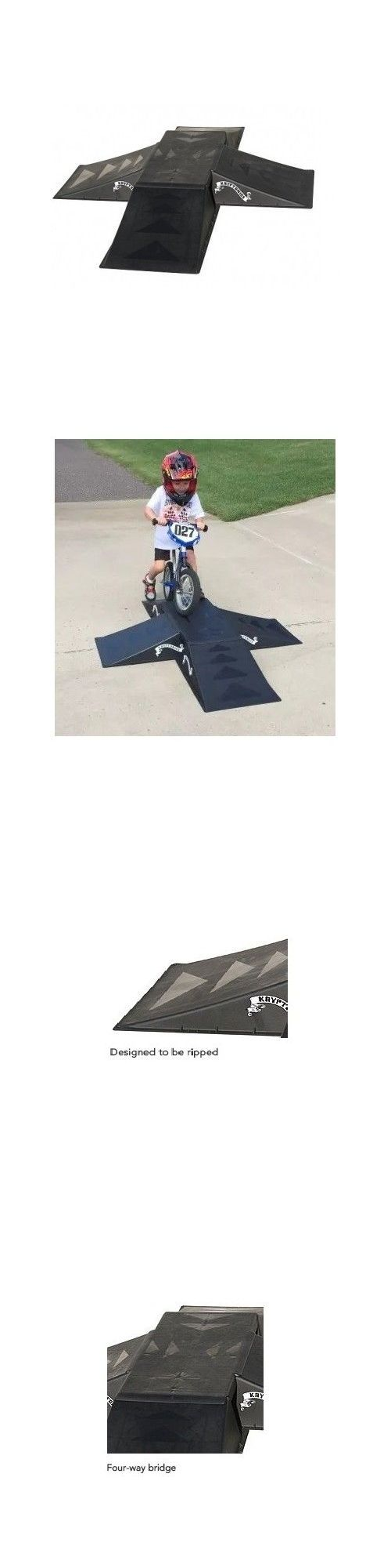 Ramps and Rails 91565: Skateboard Ramps For Bmx Bikes Kids Beginners Tricks Jump Inline Skate Portable BUY IT NOW ONLY: $75.19