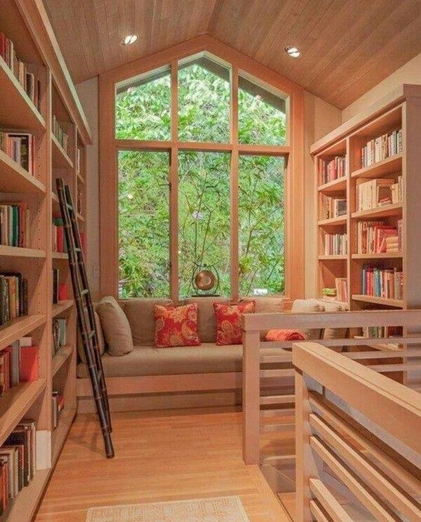 Check out this beautifully converted attic into a lovely little quiet book space love it xx  #readbooks #booknooks #readingroom