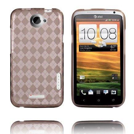 Tuxedo (Läpikuultava Harmaa) HTC One X Silikonisuojus