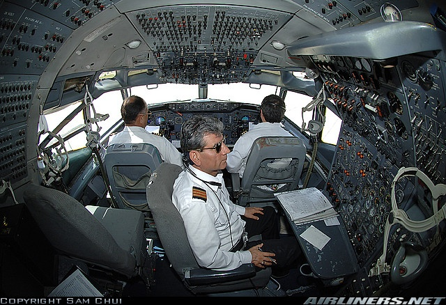 Boeing 707 Flight Deck - Pan Am