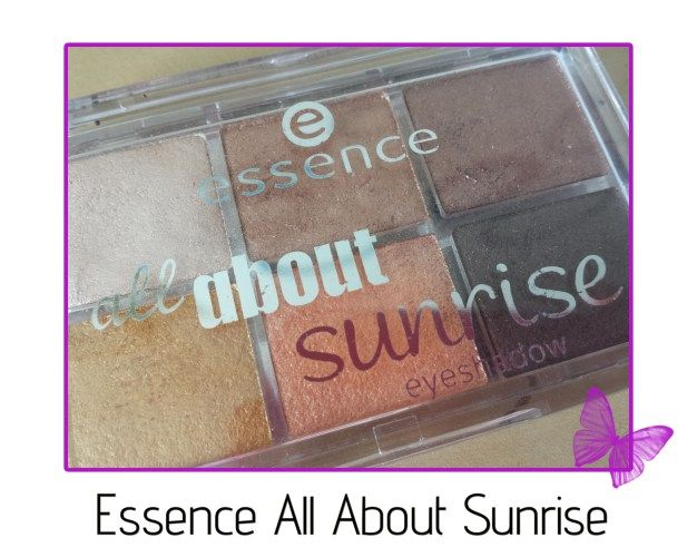 review - essence all about sunrise eyeshadow palette