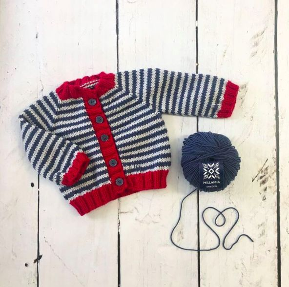One of my close friends is having her first baby so I thought I would make him (it's a boy!) a little cardigan!