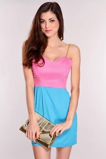pink and blue dress www.dearoy.com