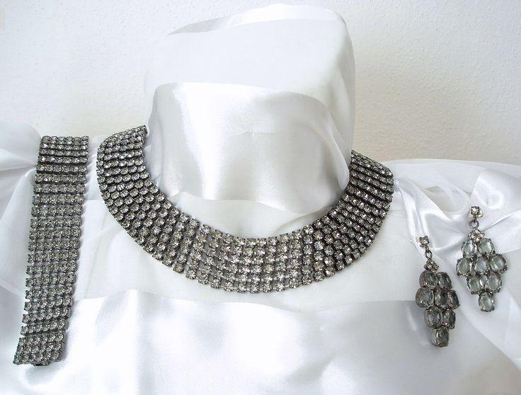 Czech Rhinestone Set | Exklusives Strass Set 3-teilig | Black Diamond *sc093 - JAUL.biz Perlen und Glas