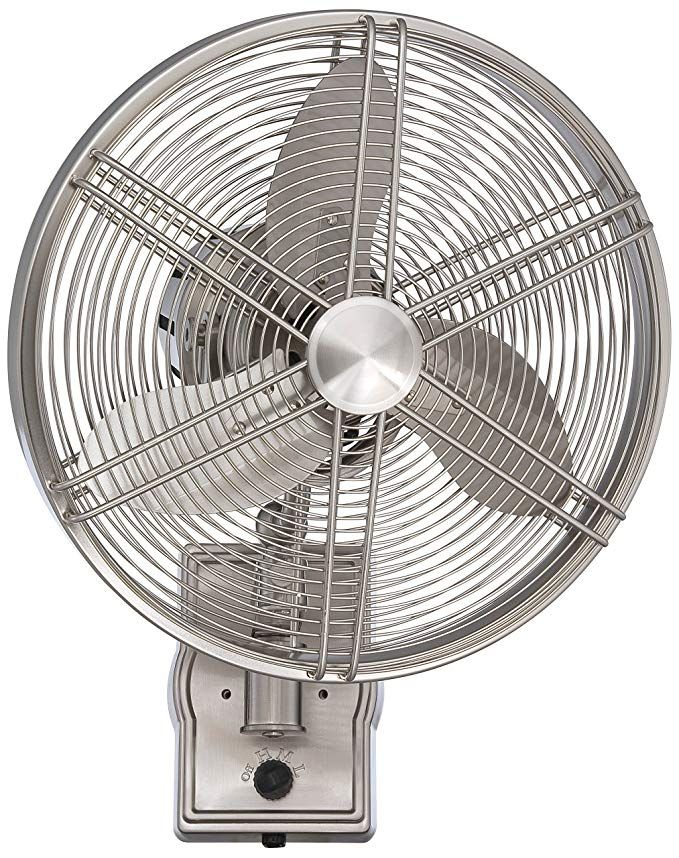 Craftmade Far14bnk3w Faraday Brushed Polished Nickel Outdoor Wall Fan With 3 Blades 14 Span Damp Review Wall Fans Craftmade Wall Mounted Fan