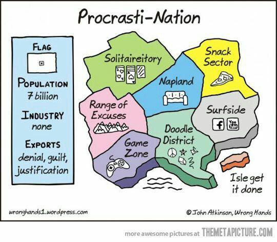 procrastination clean funny