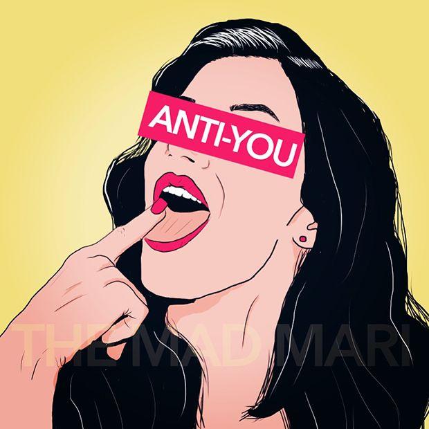 ilustrações pop cartoon mad mari anti you