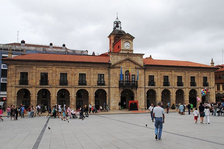#Avilés Ayuntamiento Plaza de España #promospain #cultura #patrimonio