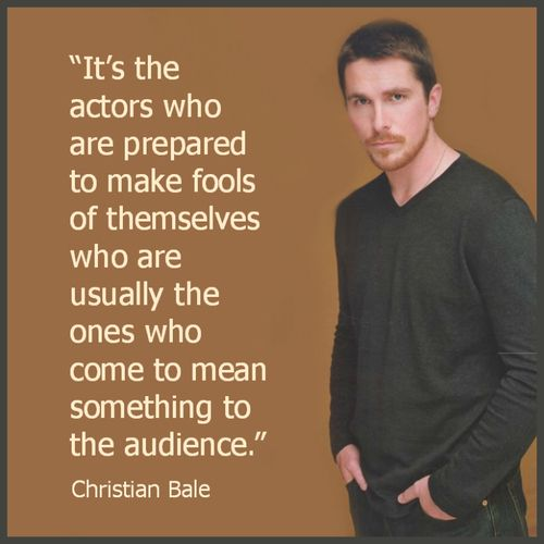 Even if you feel foolish, the more you get into character the more the audience enjoys it.