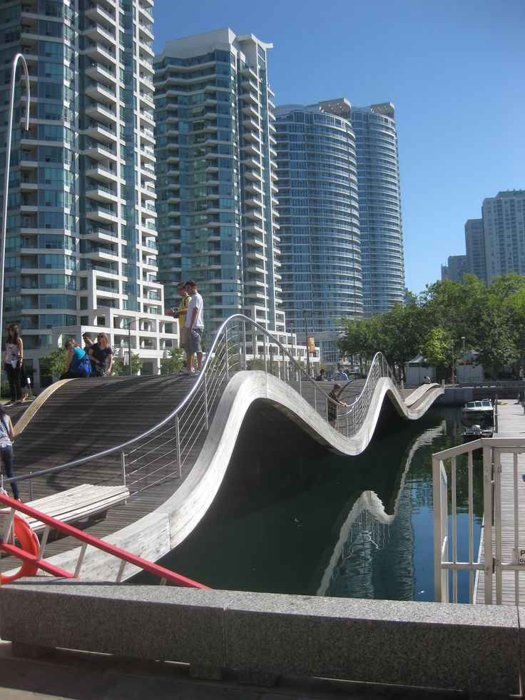 Wave Deck. Toronto. The waterfront is becoming a more appealing place to walk and spend time...