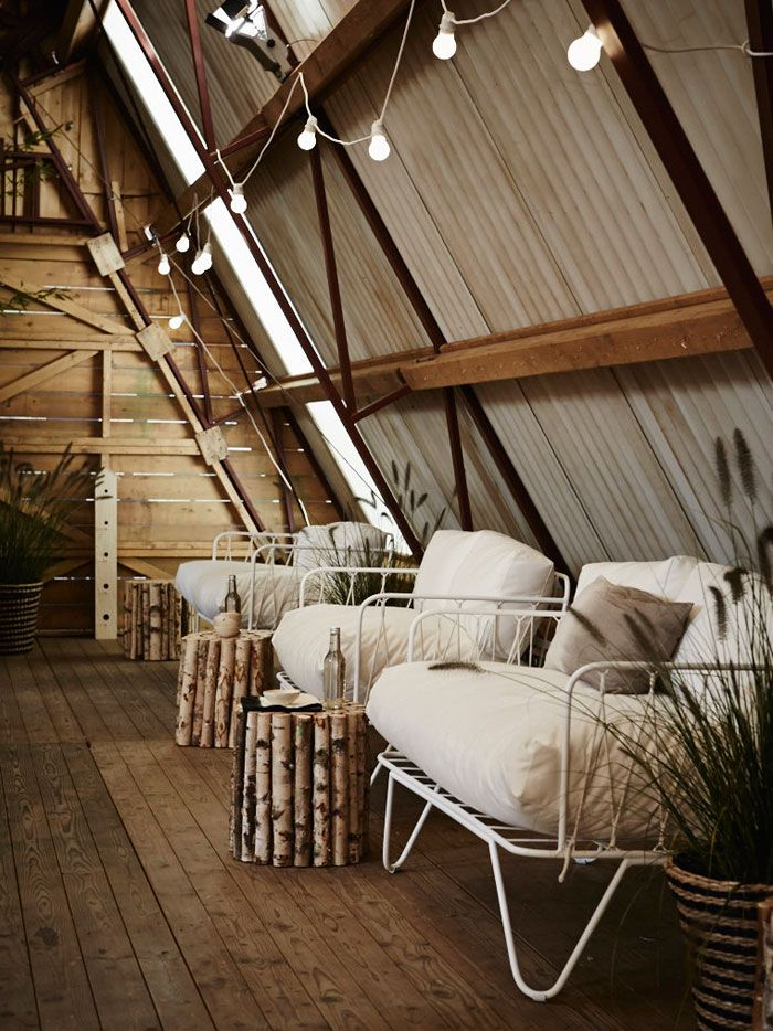 Love this space for the top floor of a barn or even an attic