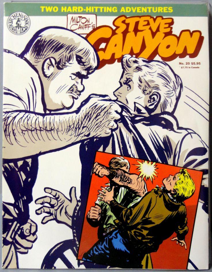 Milton CANIFF STEVE CANYON #20 Cold War Era Jet Aviation Action Adventure Newspaper Comic Strip Reprints Kitchen Sink