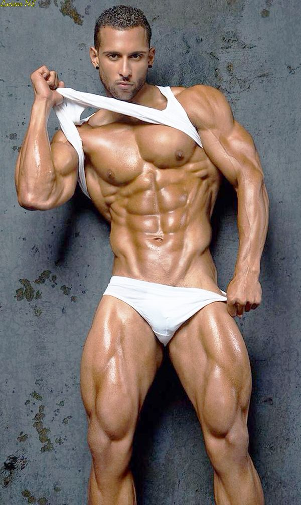 Arabian naked male bodybuilder