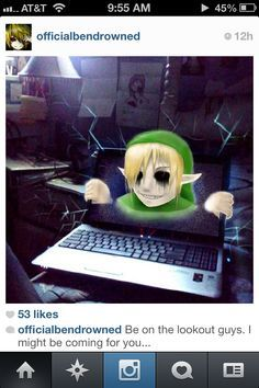 Ben drowned, Creepypasta and Just because on Pinterest
