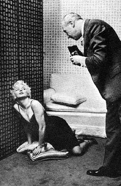 Marilyn Monroe and Cecil Beaton, as photographed by Mr. Beaton's assistant, Ed Pfizenmaier, at the Ambassador Hotel, NYC, February 22nd 1956