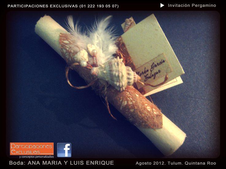 Invitación para Boda con tema de Playa #invitacionesboda #invitaciones #bodaplaya