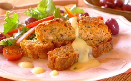 Baked Tuna Roll with Cottage Cheese Pastry recipe | Crowd Pleasers recipes | Whats For Dinner