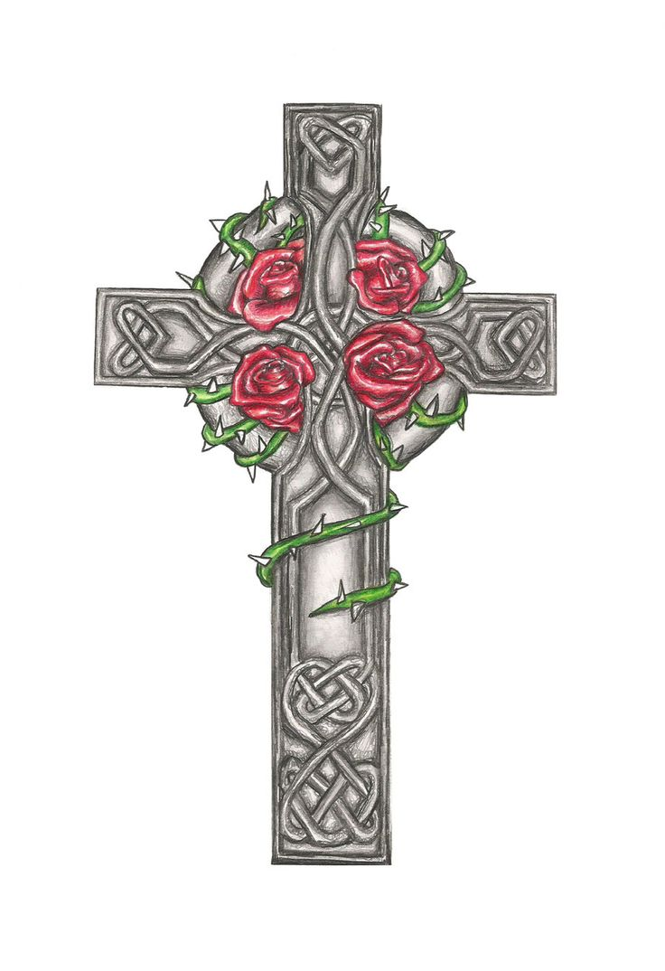 Mens cross tattoo with roses - Celtic Cross Tattoo Design Commision By Laurenroseox On Deviantart