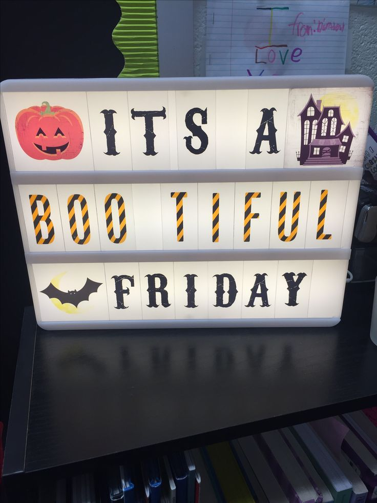 Halloween Lightbox Idea - Classroom