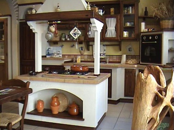 Cucina in muratura la cucina pinterest country and - Cocina con isla central ...