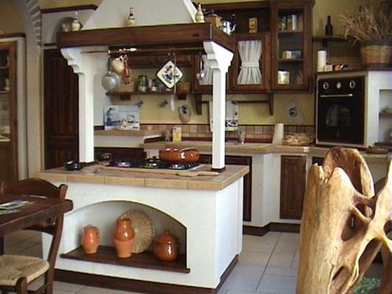 Cucina in muratura.