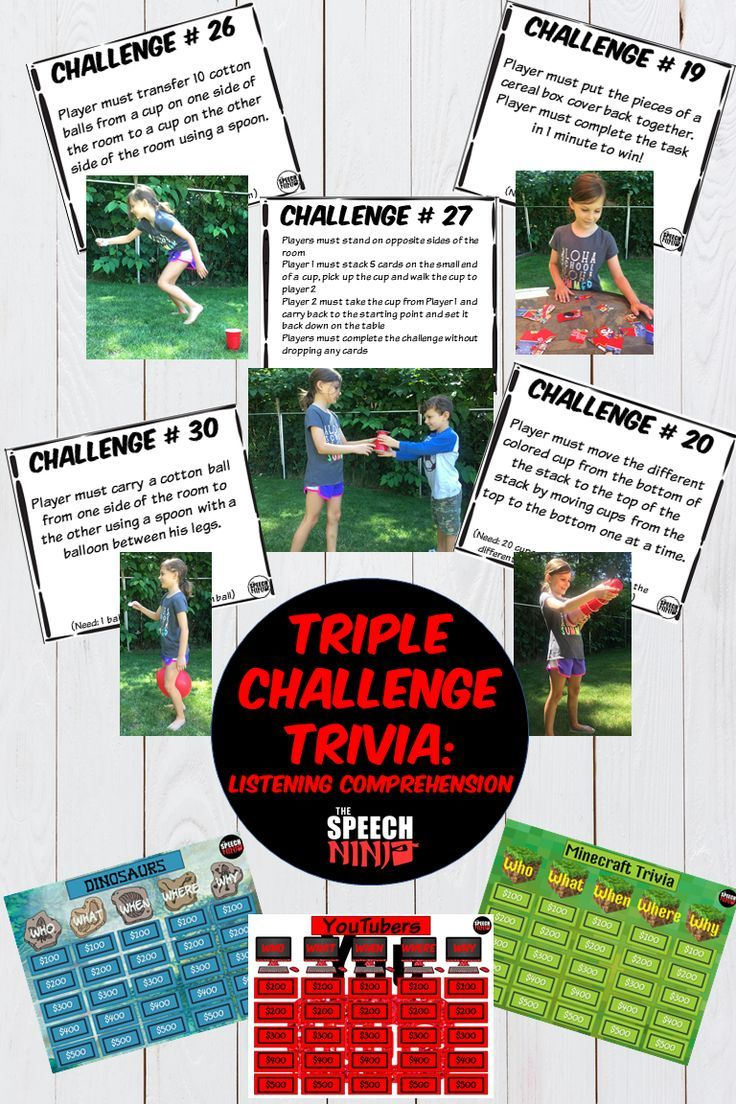 Triple Challenge Trivia: Listening Comprehension   TpT