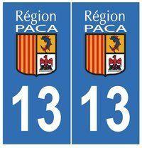 Autocollant plaque immatriculation auto département 13 Bouches du Rhone: Frais de Port GRATUIT Envoi sous 2 jours Fabrication…
