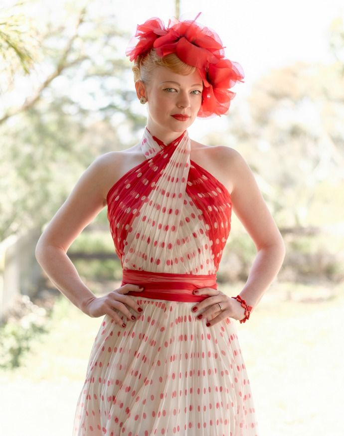 Red and white costume from The Dressmaker Exhibition                                                                                                                                                                                 More