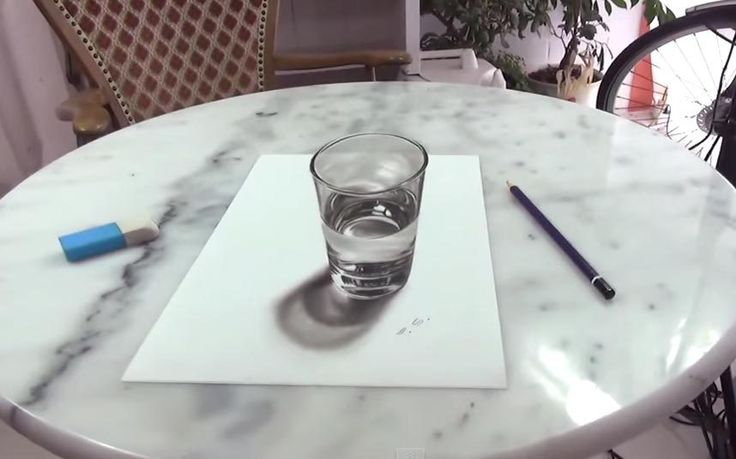 YouTube user releases video of a 3D drawing of a glass of water that is so   mindbendingly realistic it will leave you feeling thirsty