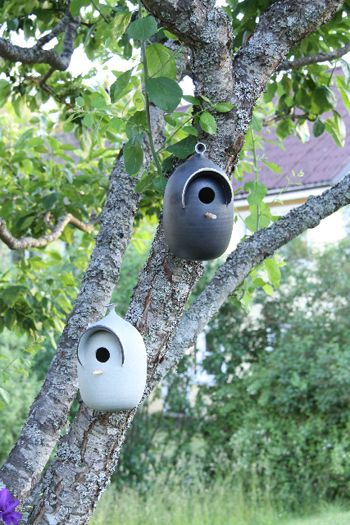 Trädgårdskonst: Fågelholk - Bromma Keramik