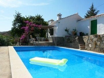 View of the holiday cottage from the pool torrox