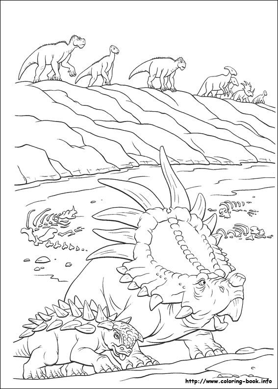 dinosaure coloring picture - Disney Dinosaur Coloring Pages