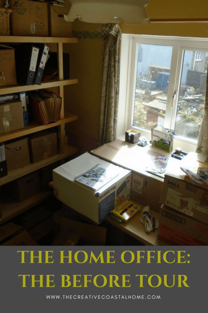 Home Office before tour, how to plan your office and how to shop your home for furniture