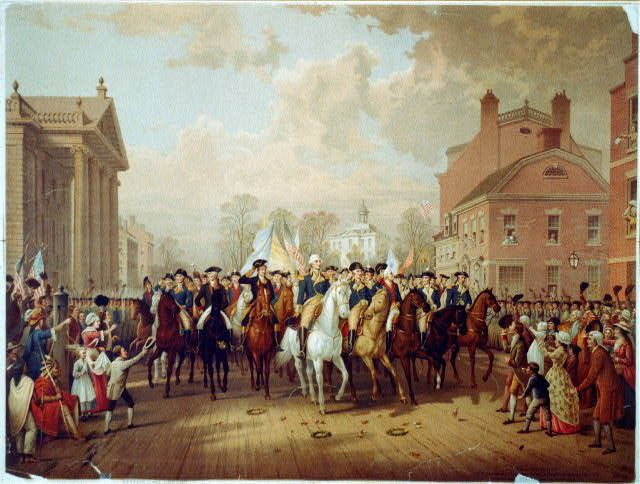 Evacuation Day; and Washington's Triumphal Entry in New York City, November 25, 1783.