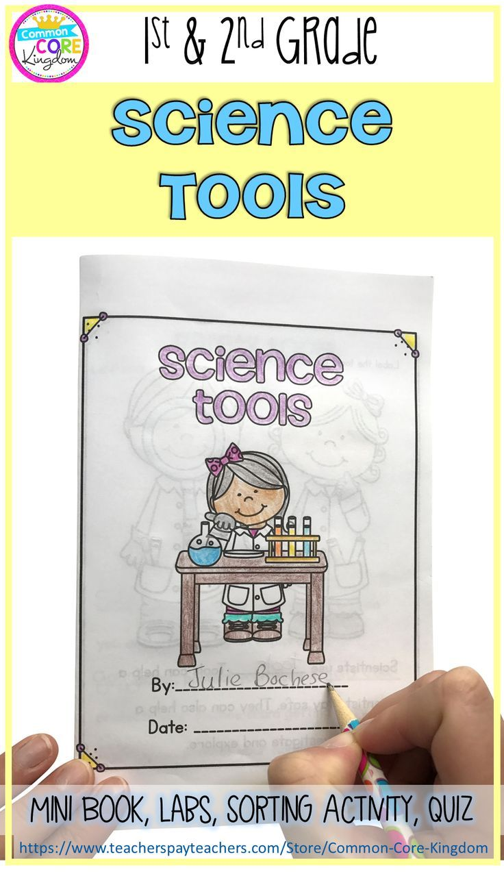 Are you looking for a fun and engaging way to teach your 1st or 2nd graders about the science tools? This science mini unit includes a book, vocabulary cards, foldable activity, lab experiments, and a quiz.
