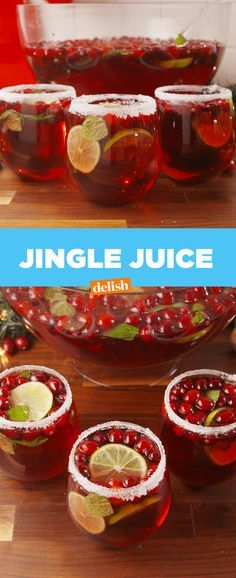Jingle Juice! Festive and an opportunity to use Ding Ding's punch bowl during the Christmas season!!