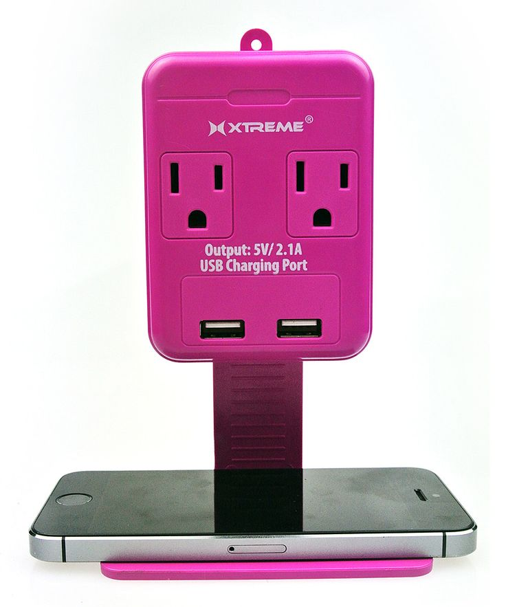 Xtreme Pink Dual-Port USB Two-Outlet Wall Tap   zulily