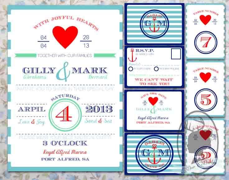 Wedding Invitation Stationery | Nautical Theme | Hello Sailor |