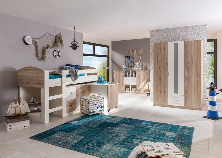 Trend Kinderzimmer komplett Lenny Eiche mit Wei Buy now at http