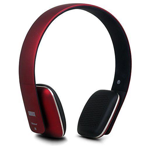 ヘッドフォンに迷ったら、これ! August ワイヤレスヘッドホン Bluetooth&NFC&マイク搭載 ハンズフリー通話可 音楽再生  EP636 (レッド)