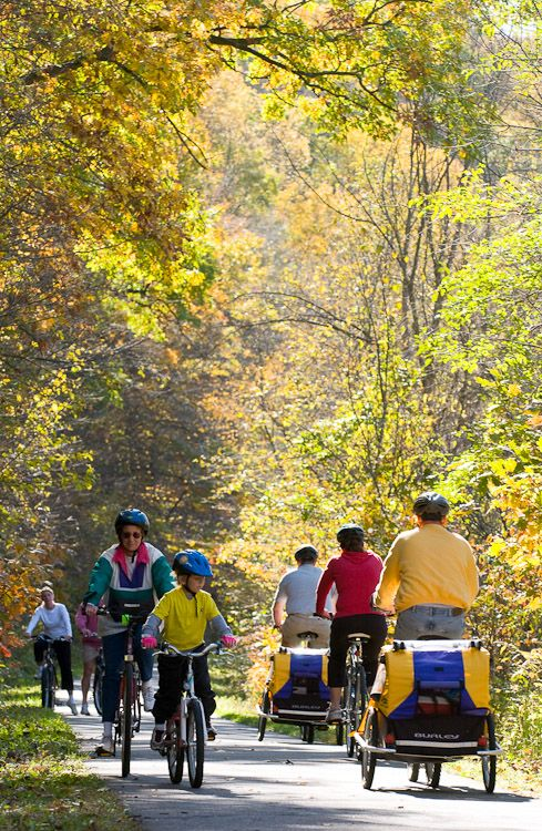 Fall biking on the Cannon Valley trail near Welch Cannon Valley in Minnesota. #exploremn - photo by Explore Minnesota Tourism