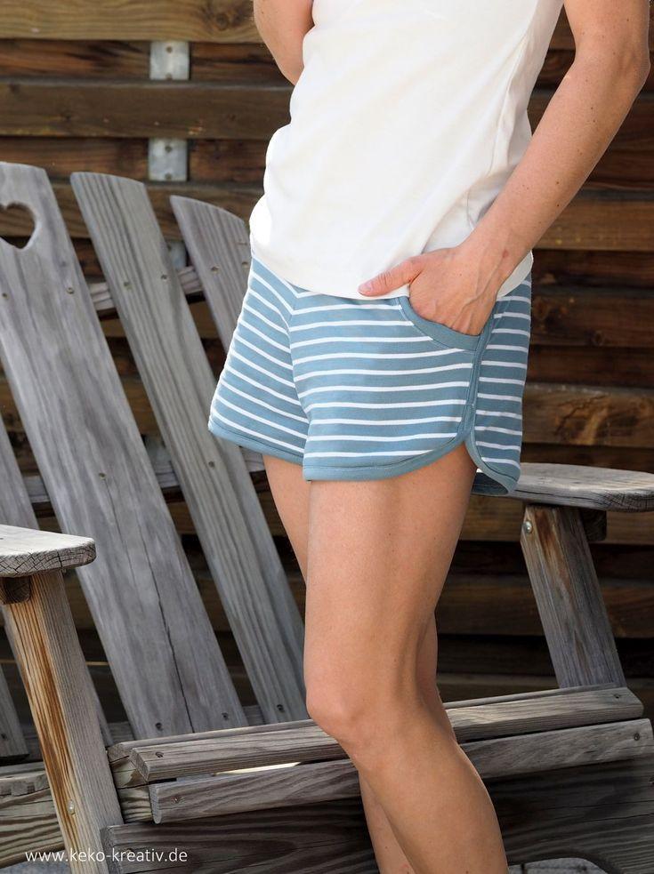 Shorts - ShortyLegs aus Sommersweat von Albstoffe - genäht von Keko-Kreativ.