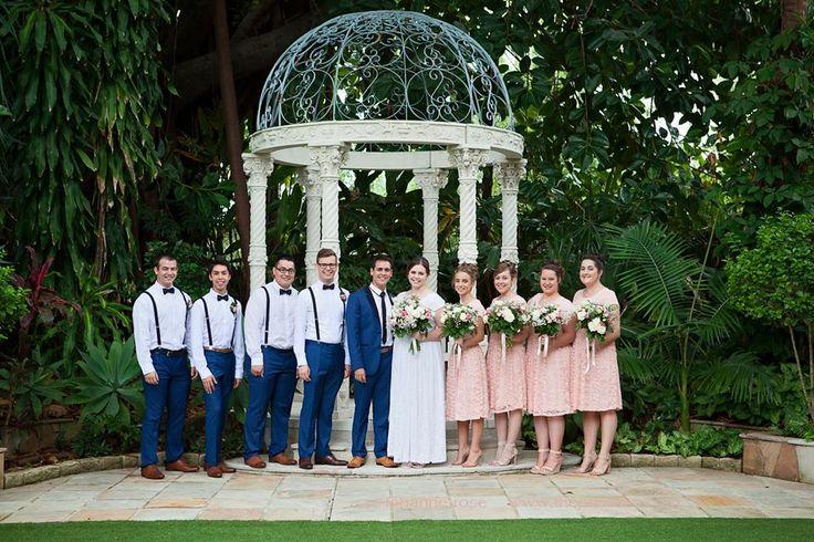 Sarah & Oliver's wedding, with Sarah's bridesmaids wearing Omika's Samantha dress.