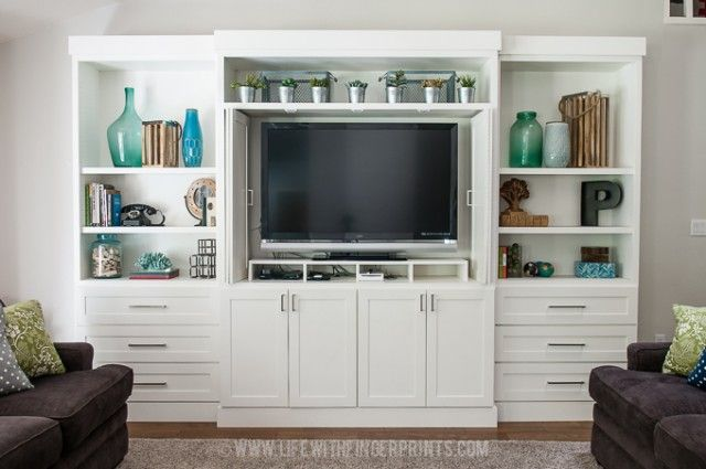 DIY Entertainment Center by Life With Fingerprints