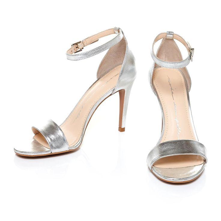 SILVER | HEELS | HIGH HEELS | WEDDING | PROM | STRAPPY | BRIDESMAID | ACCESSORIES | SHOES | METALLIC | TRENDING -  SHOP THE LOOK:- https://www.christianalexander-uk.com/footwear-c24/moda-in-pelle-lumia-silver-leather-heel-p353