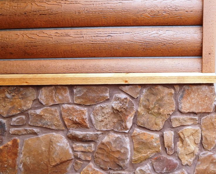 Beautiful Concrete Log Siding With Stone Accent Log