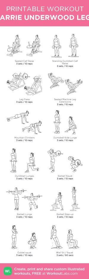 CARRIE UNDERWOOD LEGS: my custom printable workout by @WorkoutLabs #workoutlabs #customworkout #legworkouts #fitness #bodybuilding by Sherry Murphy LKckP