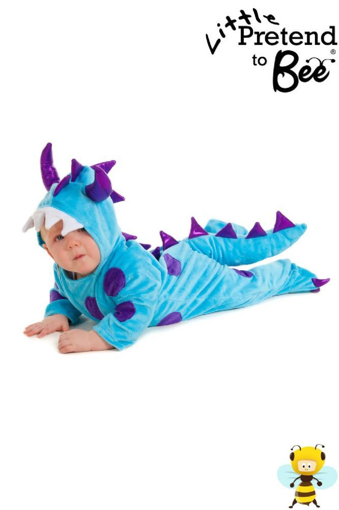 Shop for Monster baby and toddler fancy dress costumes at Totally Fancy. A top quality, super soft 100% polyester velour all in one suit. from Pretend to Bee for babies and toddlers.  Great quality made to last onesie with Rubber grips on feet. All Pretend to Bee Costumes are EN71 Toy Safety Tested. Available in sizes 6-12 Months and  12-18 Months