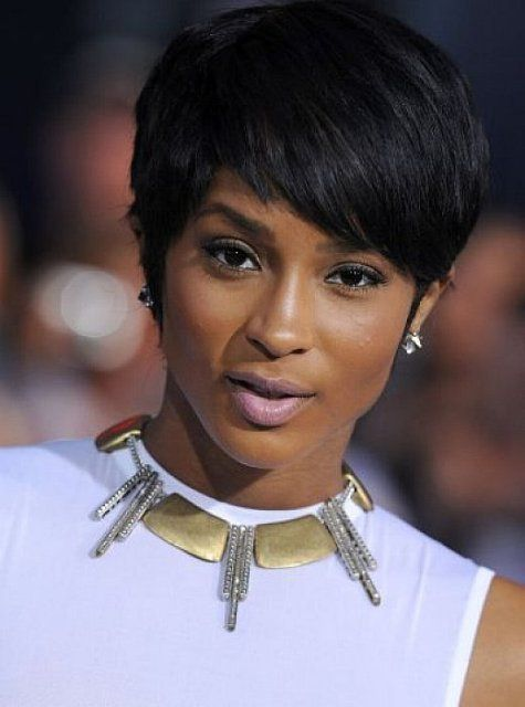African American Layered Hairstyles Short With Side Bangs For Straight Hair
