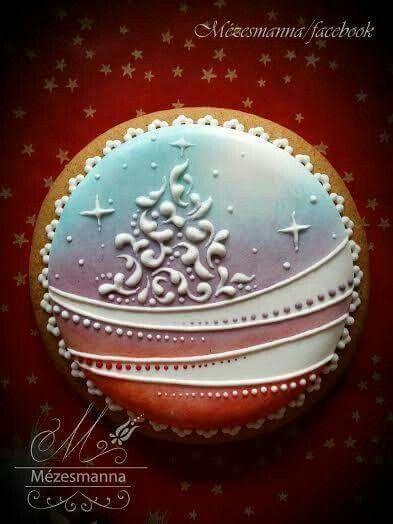 Mezesmanna: Christmas tree. Gorgeous cookie!